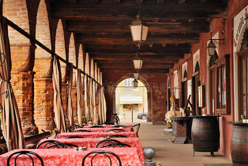 Parma architecture. Architecture of a dining area located in Zibello, Parma province, Italy royalty free stock photo