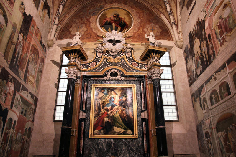 Parma cathedral stock photo