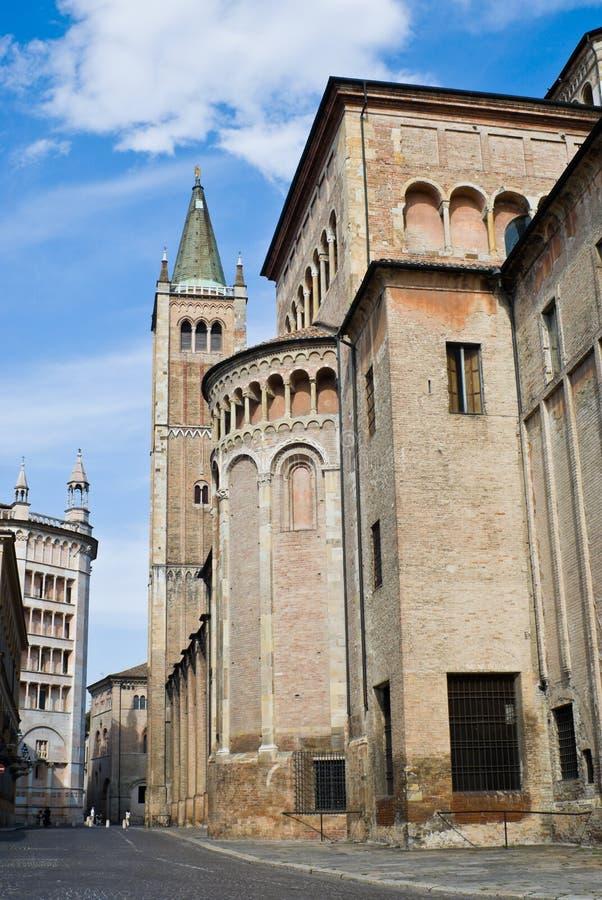 Parma Cathedral (Duomo) royalty free stock photos