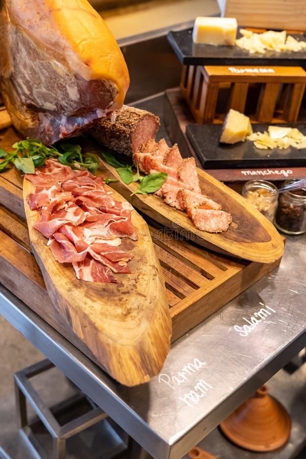 Parma Ham leg royalty free stock images