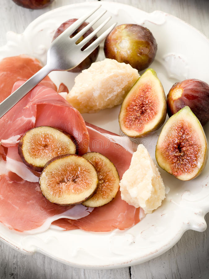 Download Parma ham, parmesan cheese stock photo. Image of meal - 21106066