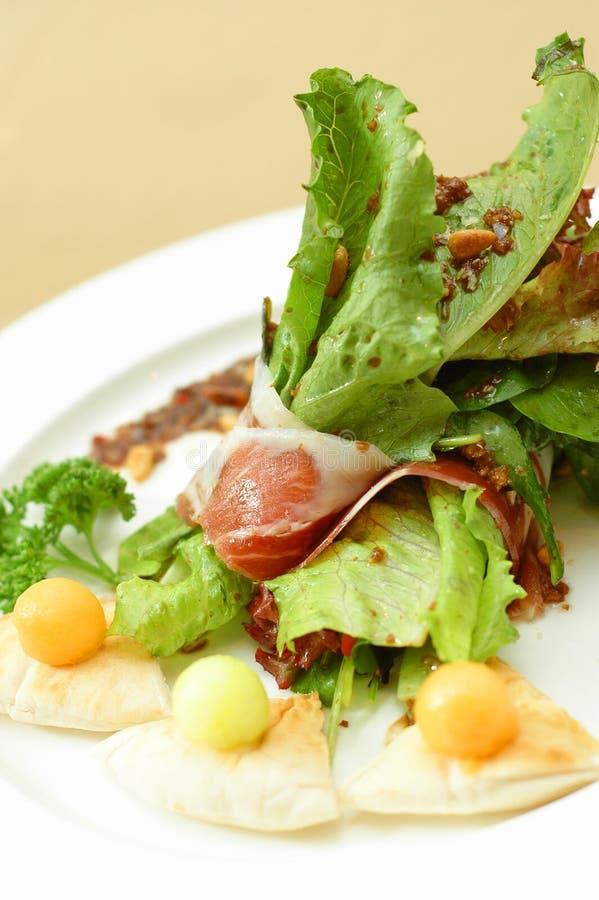 Parma ham salad stock images