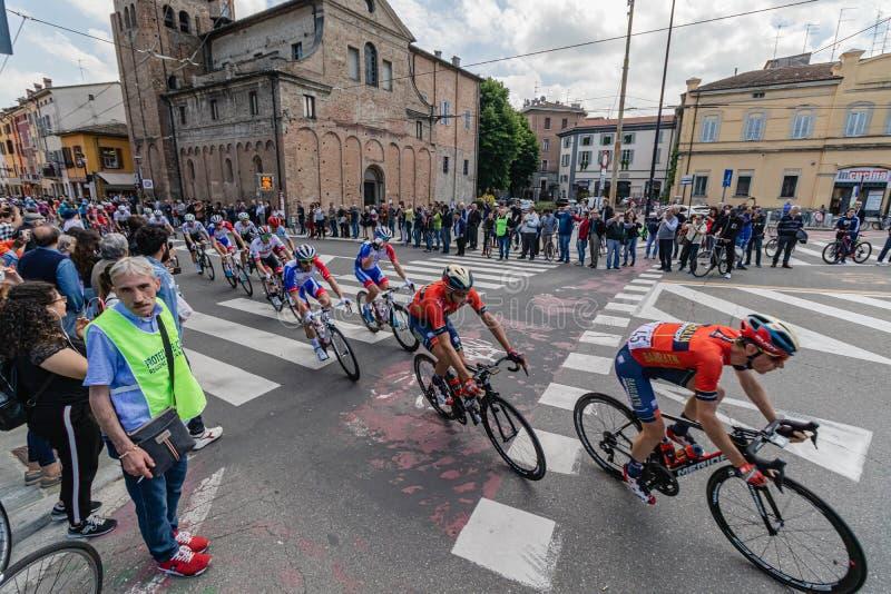 Parma, Italia - 22 de mayo de 2019: Giro d 'Italia foto de archivo
