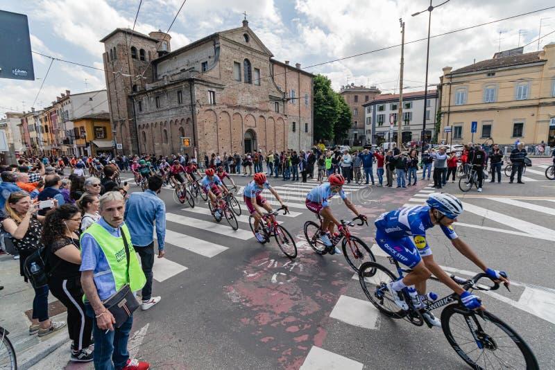 Parma, Italia - 22 de mayo de 2019: Giro d ?Italia imagen de archivo libre de regalías
