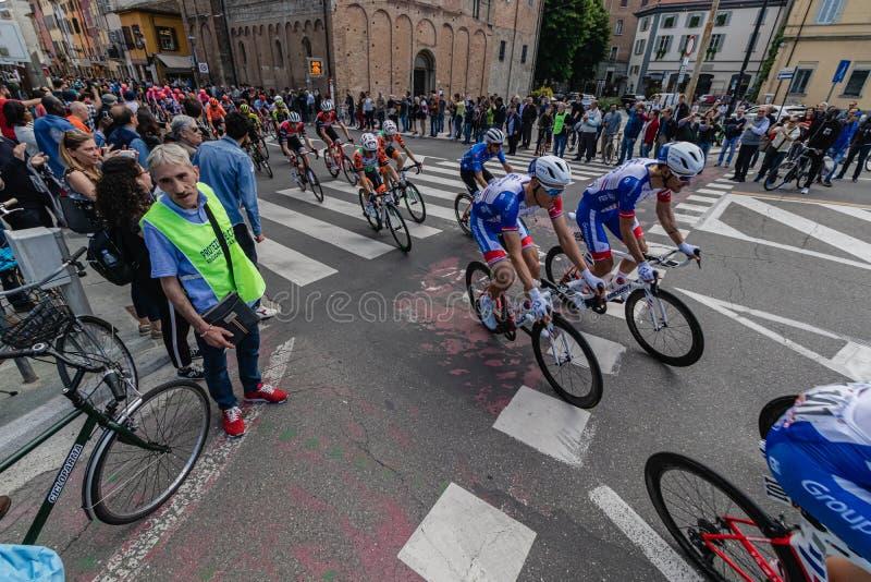 Parma, Italia - 22 de mayo de 2019: Giro d ?Italia fotografía de archivo libre de regalías