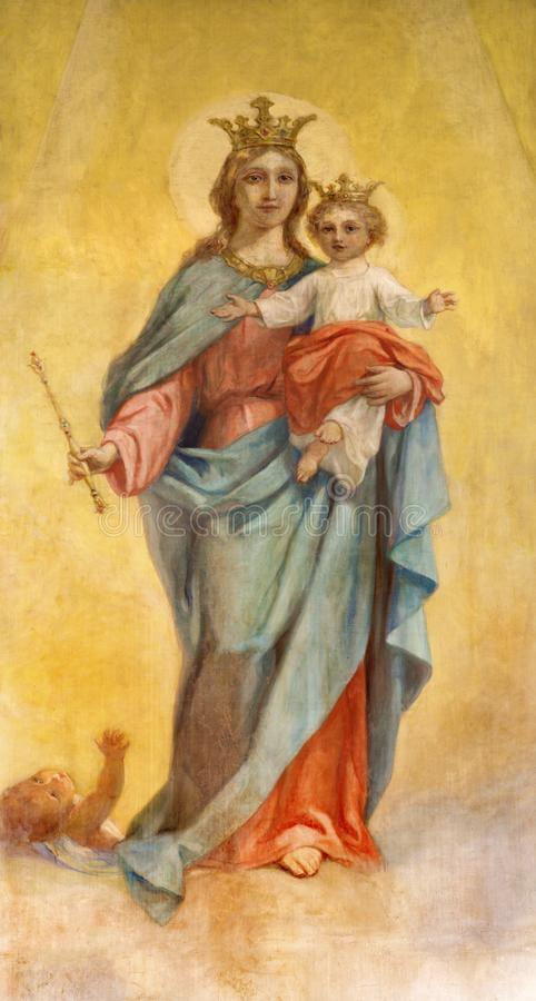 Free PARMA, ITALY - APRIL 16, 2018: The Painting Of Madonna Mary Help Of Christians In Church Chiesa Di San Benetetto Royalty Free Stock Photo - 121934915