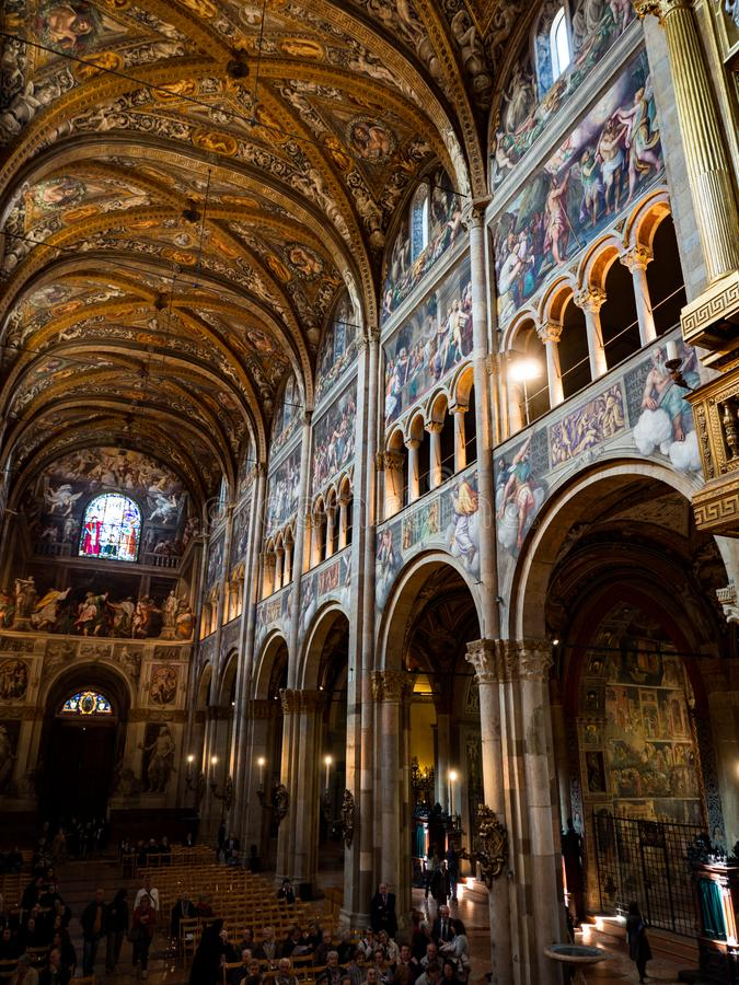 The Cathedral of Santa Maria Assunta is famous for the beauty of royalty free stock photography