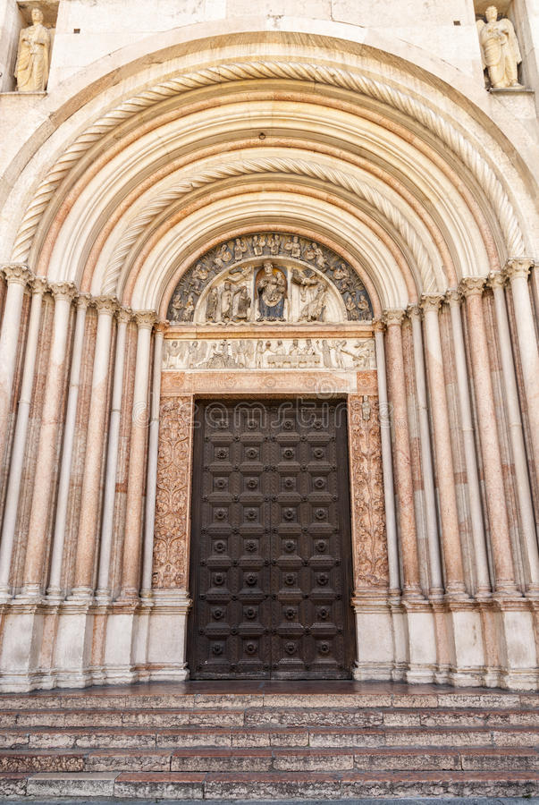 Parma - Portal Of The Baptistery Royalty Free Stock Photography