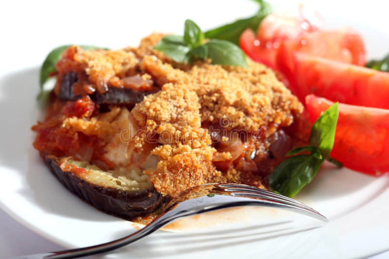 Parmegiana d'aubergine photo stock
