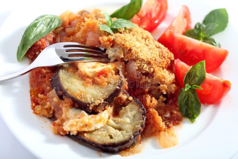 Parmegiana van de aubergine stock foto