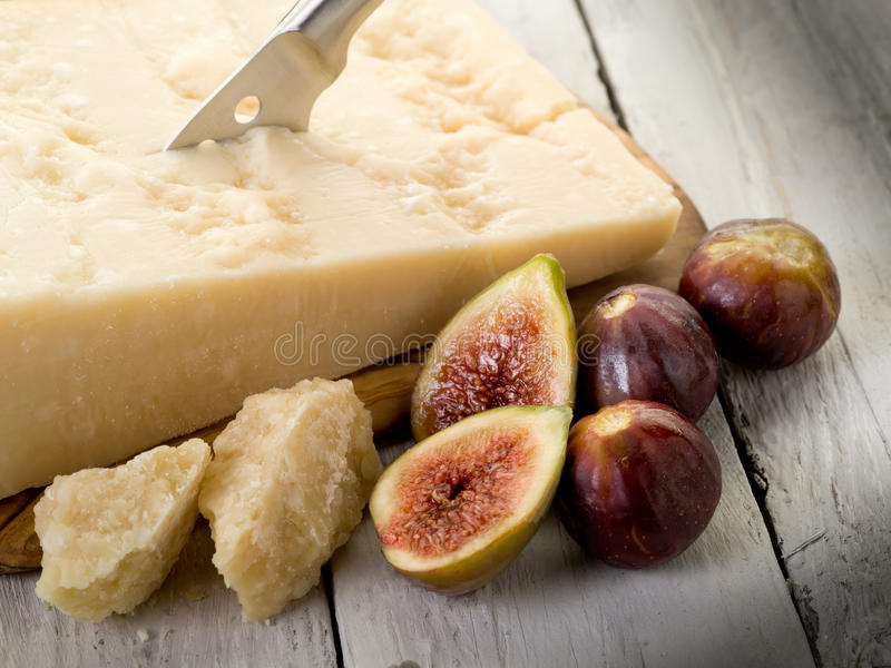 Download Parmesan cheese and figs stock photo. Image of dining - 21105432