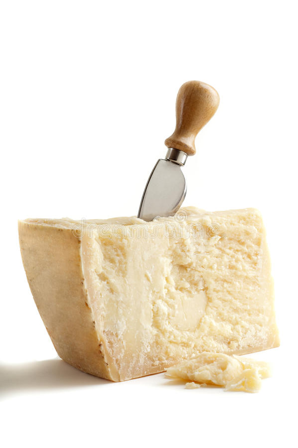 Free Parmesan Cheese With Knife Royalty Free Stock Photography - 12515607