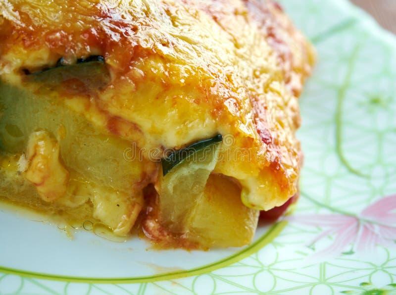 Parmigiana di zucchine immagini stock libere da diritti
