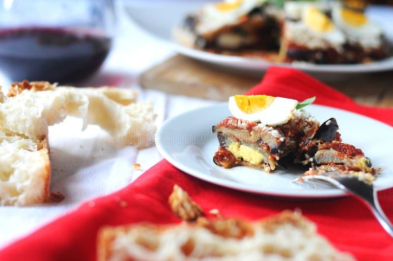 Parmigiana un plat italien typique image stock