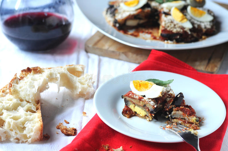 Parmigiana un plat italien typique photographie stock