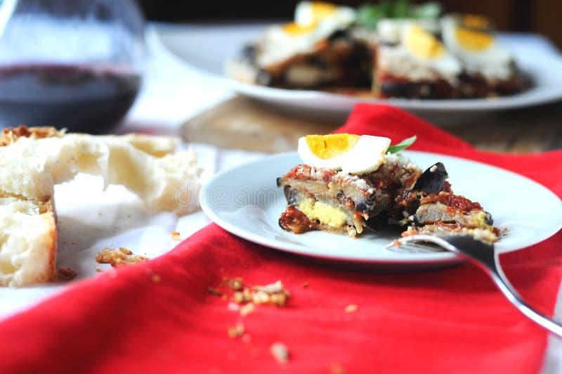 Parmigiana un plat italien typique photos stock