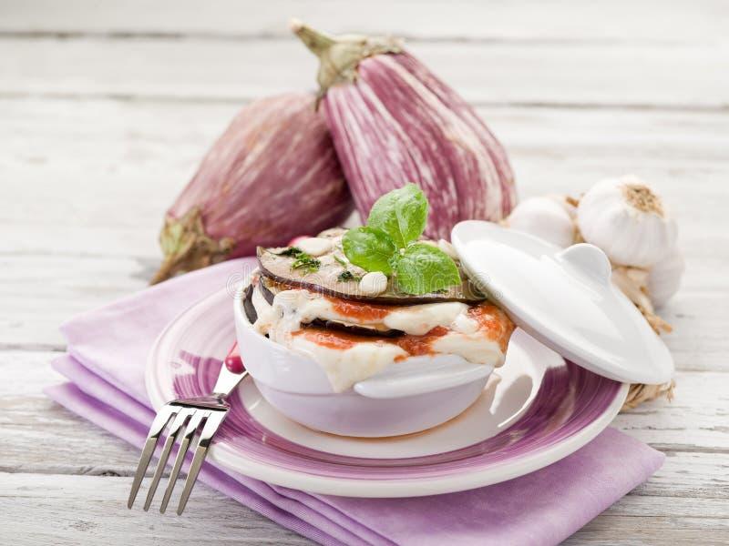 Parmigiana van aubergines royalty-vrije stock foto