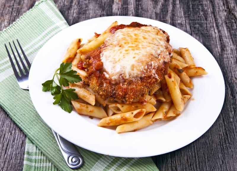 Parmigiana van de kip stock afbeeldingen
