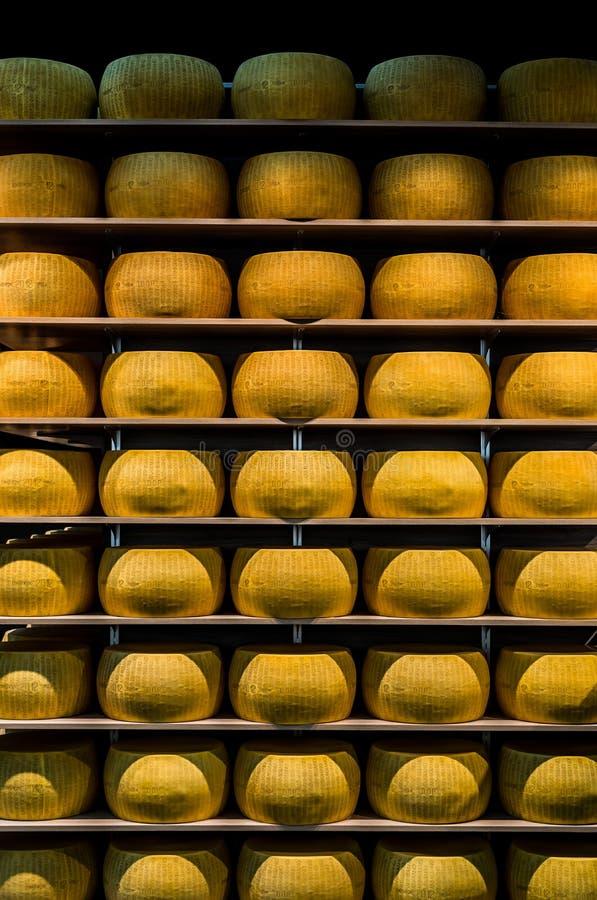 parmigiano lub Parmezański ser Parma, w emilia zdjęcia stock