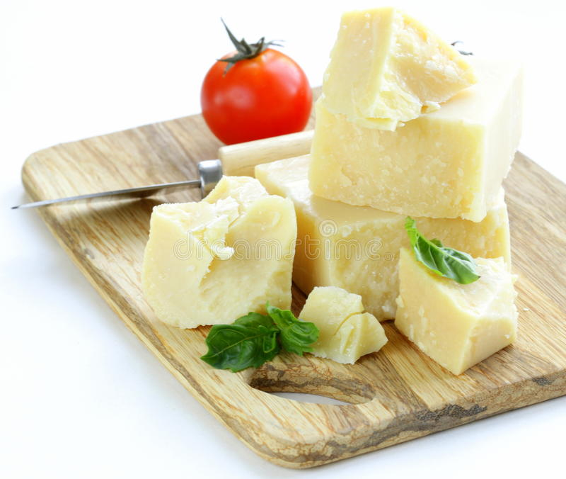 Parmigiano naturale a pasta dura immagine stock