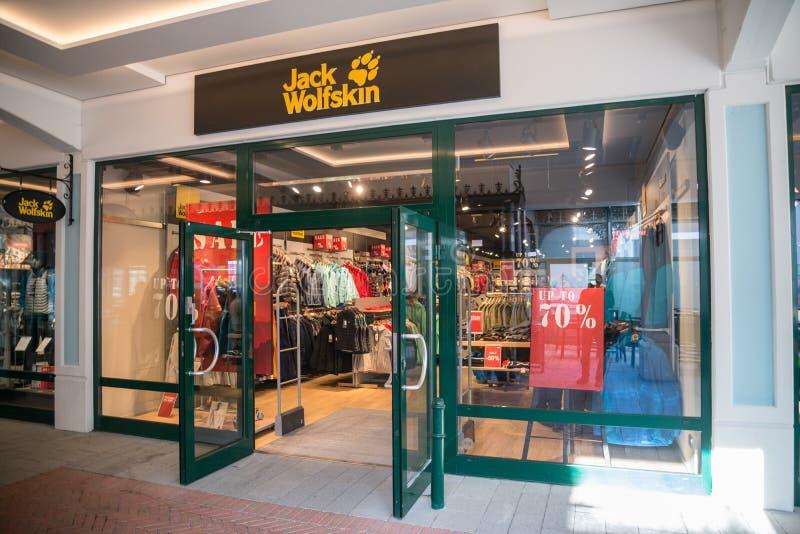 Jack Wolfskin store in Parndorf, Austria. stock photography