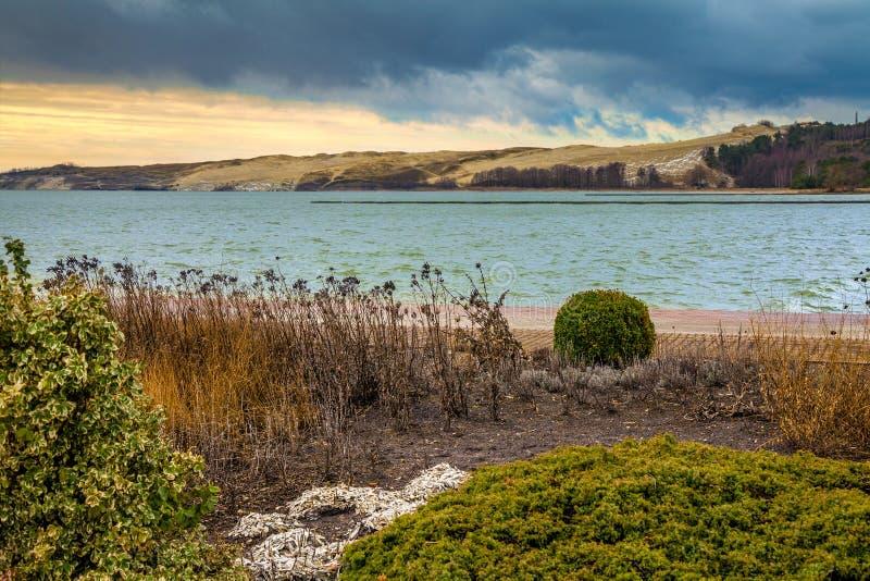 Parnidis沙丘在秋天, Neringa,立陶宛 库存图片