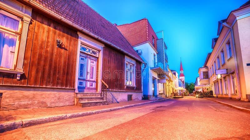Parnu, Эстония, балтийские страны: старый городок стоковые изображения