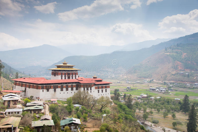 paro dzong Бутана стоковое фото rf