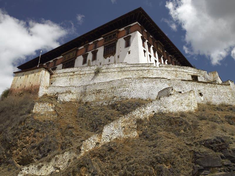 Paro Dzong - royaume du Bhutan image libre de droits