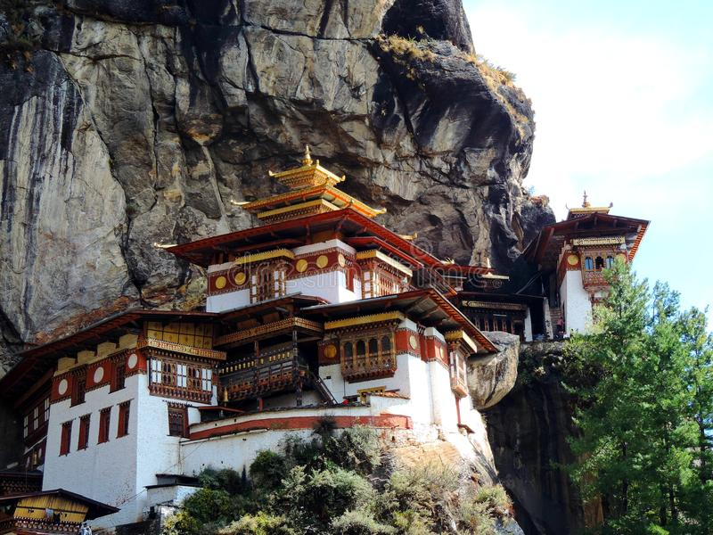 Paro Taktsang Бутана стоковое фото