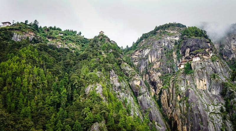 Paro Taktsang Tiger Nest in Bhutan stock photo