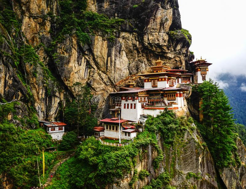 Paro Taktsang Tiger Nest in Bhutan royalty free stock photography