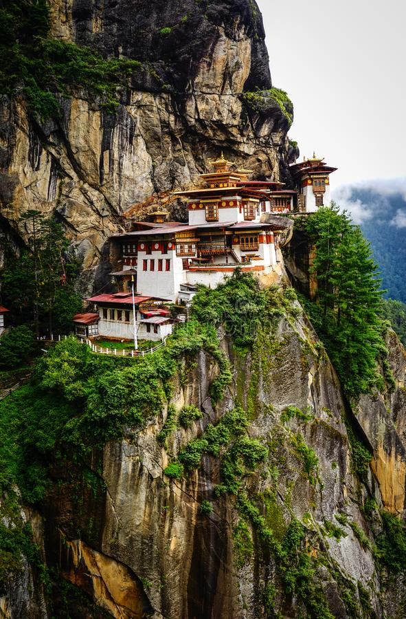 Paro Taktsang Tiger Nest in Bhutan stock image