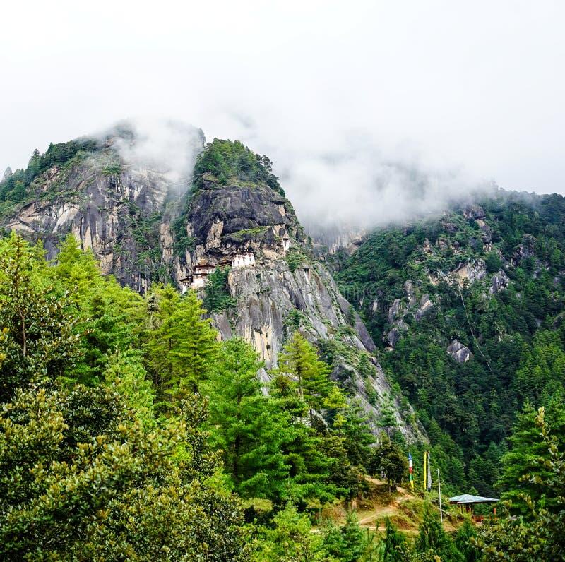 Paro Taktsang Tiger Nest en Bhután foto de archivo libre de regalías