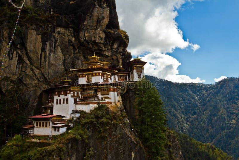 Paro Taktsang 'tygrysy Gniazduje' monaster, Paro, Bhutan zdjęcie royalty free
