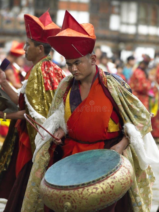 Paro Tsechu - Bhutan arkivfoto