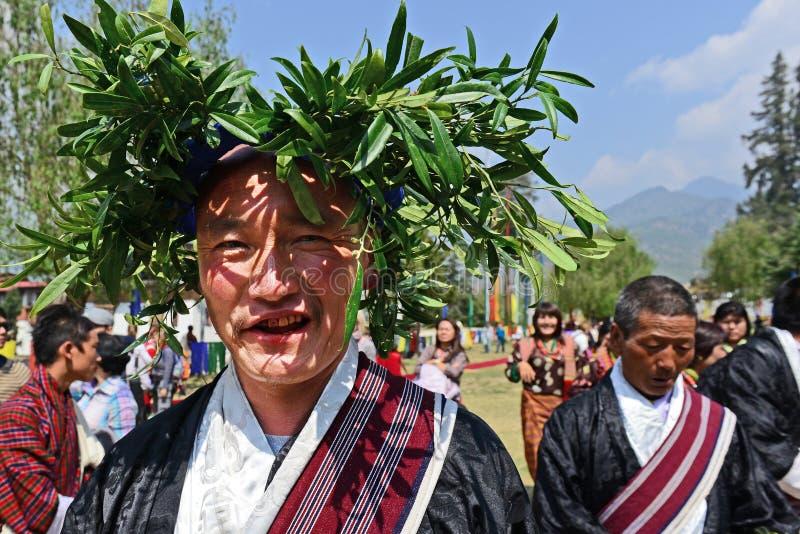 Paro Tsechu festival royaltyfri bild