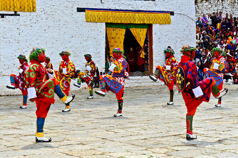 Paro Tsechu festival royaltyfria foton