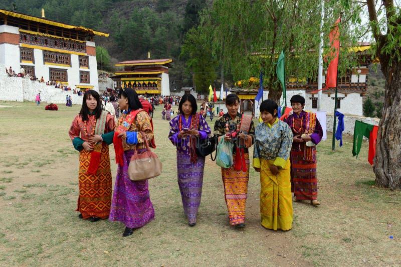 Paro Tsechu festival arkivfoton