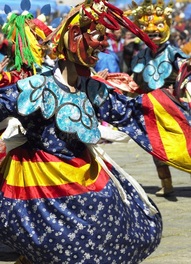 Paro Tsechu in The Kingdom of Bhutan royalty free stock photography