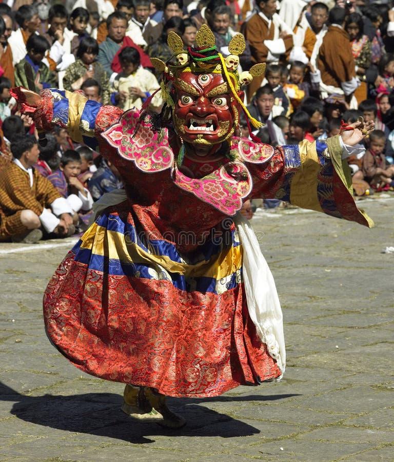 Paro Tsechu in The Kingdom of Bhutan royalty free stock photo