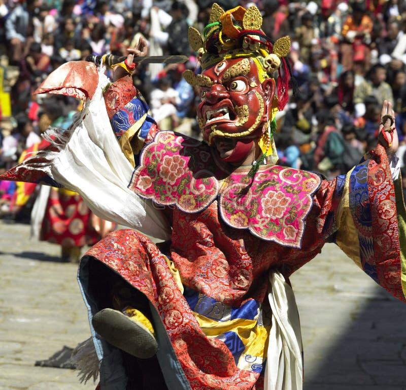 Paro Tsechu - kingdom of Bhutan stock photography