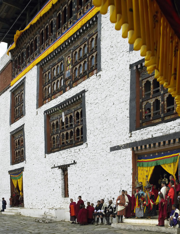 Paro Tsechu - Kingdom of Bhutan stock image