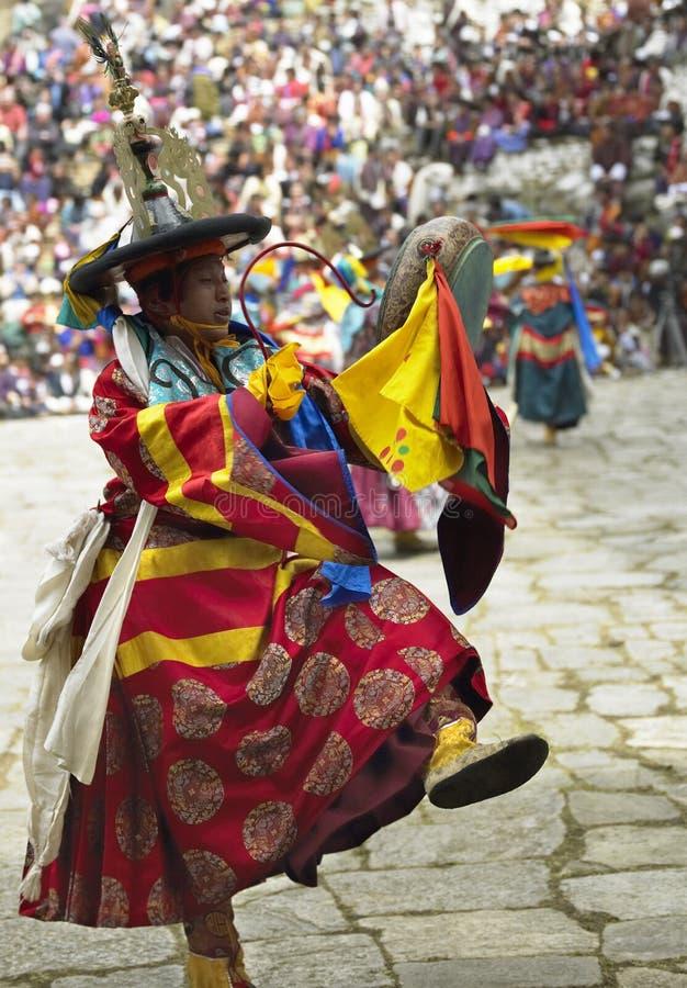 Paro Tsechu - kingdom of Bhutan royalty free stock photo