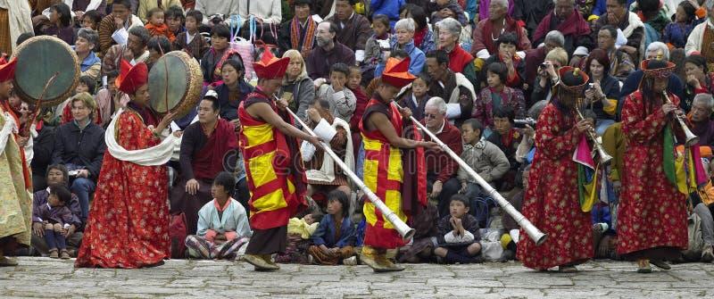 Paro Tsechu - royaume du Bhutan photo libre de droits