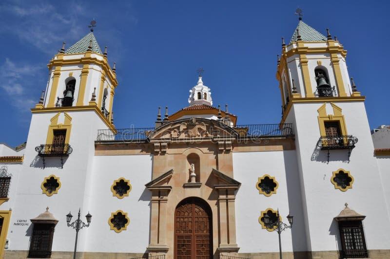 Parochie van Onze Dame van Socorro, Ronda (Spanje) stock fotografie