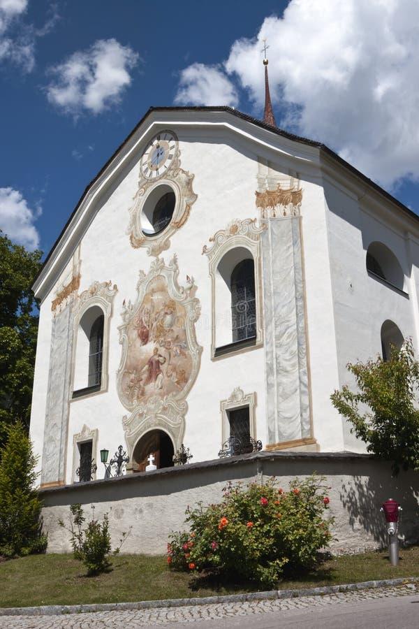 Parochiekerk van Anras-Kasteel, Anras, Oostenrijk stock afbeeldingen