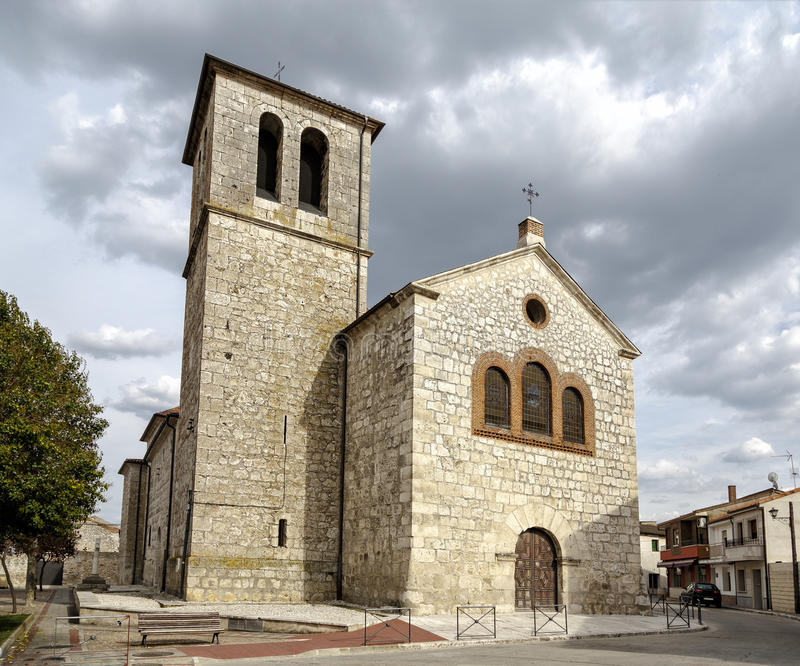 Parochiekerk van Pedrajas DE San Esteban Valladolid royalty-vrije stock foto