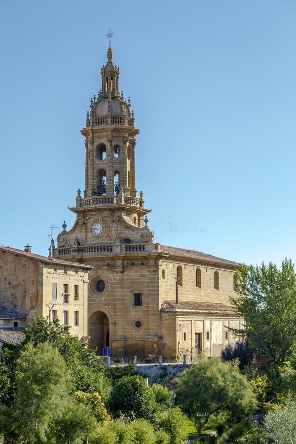 Parochiekerk van San Miguel in Cuzcurrita royalty-vrije stock afbeeldingen