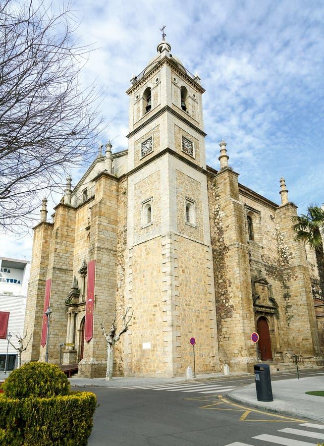 Parochiekerk van Santiago in Don Benito, Extremadura Caceres royalty-vrije stock afbeelding
